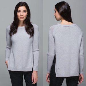 Lululemon Yin to You Light Heather Gray Sweater